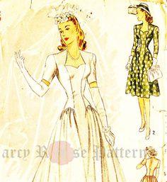 Simplicity 4215 Vintage 1940s Sweetheart by DRCRosePatterns
