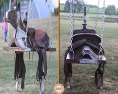 Giddy up! On a scale of 1 to 10 (10 being the highest) how would YOU rate this saddle swing? We're never too old to have a swing, so head over to our site to view a full album of swings for all ages at http://theownerbuildernetwork.co/ideas-for-your-rooms/furniture-gallery/swings/ Share your rating and your opinion in the comments section!
