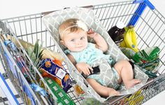 Binxy Baby Shopping Cart Hammock provides a soft, comfy seat for your infant while you shop.
