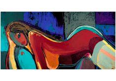 Obraz malowany 120x60 Abstrakcja 41266 - artgeist - Obrazy akrylowe #woman #art #decoration