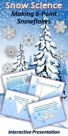 Great snow science lesson with instructions for making snowflakes. - DIY Projects for Kids Winter Art Projects, Diy Projects For Kids, Winter Crafts For Kids, Winter Fun, Winter Theme, Preschool Winter, Preschool Art, Science Experiments Kids, Science For Kids