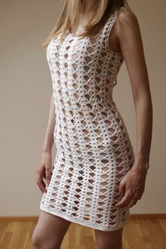 """sexy """"I designed and constructed this ELEGANT CROCHET LACE DRESS. I used lace crochet technique. the dress is very soft and stretchy. This unique dress"""", Crochet Wedding Dresses, Crochet Lace Dress, Crochet Blouse, Knit Dress, Dress Lace, Lace Weddings, Wedding Lace, Dress Wedding, Vestido Casual"""