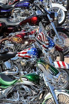 Harleys, the American way.