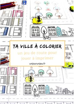 Bonjour à tous,    Aujourd'hui je vous partage un printable qui va pouvoir faire double emploi : une ville à colorier pour jouer avec vos petites voitures. Ou celles de vos enfants. :P    Parfait pour occuper vos enfants