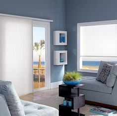 Factory Rep Blinds | Window Treatment, Awning Spokane, Deer Park WA Boho Living Room, Living Room Carpet, Cellular Shades, Great Plains, Blinds For Windows, Colorful Furniture, Sliding Glass Door, Colorful Interiors, Window Treatments