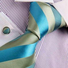 Amazon.com: Green silk ties men formal dark turquoise Stripes Woven Silk Tie Cufflinks Gift Box Set Y Relax Necktie Set A7009: Clothing