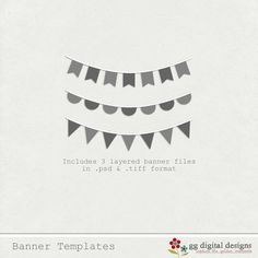 {BANNER TEMPLATE FREEBIE} great for PL cards