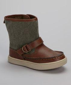 Brown & Green Joseph Boot| kids