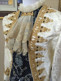 Men's baroque ballet tunic by Maria Delegeane
