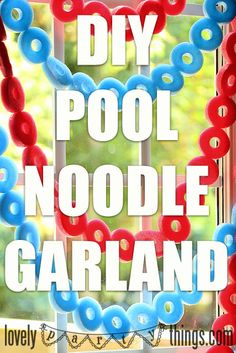 Use a knife to slice the pool noodles crosswise, then sew the circles together using clear monofilament.
