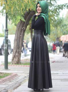 Faux Leather Flat bias maxi skirt