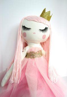 Cloth Doll - yarn hair