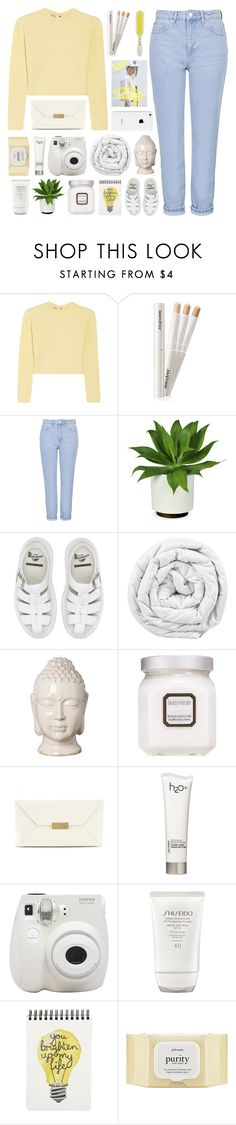 """""""#385"""" by lost-in-a-daydr3am ❤ liked on Polyvore featuring Miu Miu, Topshop, Dr. Martens, Brinkhaus, Emissary, Laura Mercier, STELLA McCARTNEY, H2O+, Fujifilm and Shiseido"""