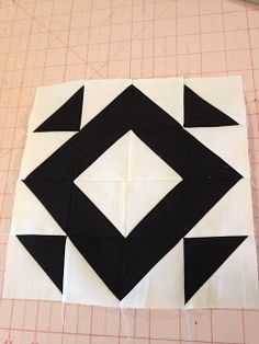 knit 'n lit: Modern Half-Square Triangle Quilt-a-Long Block 8 (Kasey)