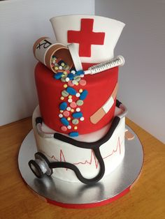 Nurse Cake! So cutte! I want this when i graduate nursing school in 4 more months!!!! Woooo!!!