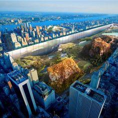 """Sunken+""""sidescraper""""+bordering+New+York's+Central+Park+wins+skyscraper+competition"""