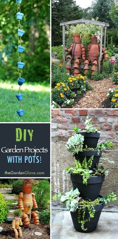 Garden Projects With Pots! • Tips, Ideas  Great Tutorials!