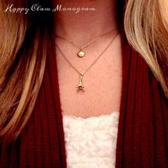 The Happy Little Clam Necklace. https://www.happyclammonogram.com/shop/happy-little-clam-necklace/