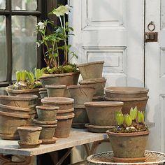 Linen Wrapped Pots