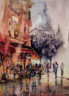 Aquarelle Montmartre. Nicolas Jolly