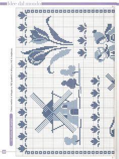 Delft Blue sampler chart1