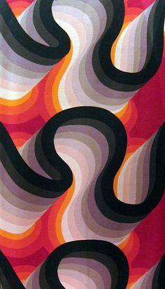Barbara Brown, textile design Galleria, 1969