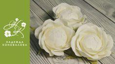 """Как сделать розу """"Безе"""" из фоамирана - мастер класс"""