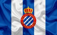 Descargar fondos de pantalla El RCD Espanyol, Eybar, club de fútbol, el Espanyol emblema, el Espanyol logotipo, La Liga española, Barcelona, España, de la LFP, los Campeonatos de Fútbol español