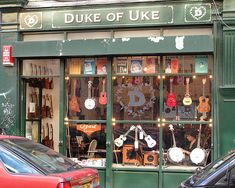 Need to buy a Ukulele while visiting London? At Duke of Uke you can! A cultural hub for the neighborhood, Duke of Uke stocks a wide range of instruments, including vintage ukuleles and mandolins. Don't know how to play? No problem, ask about ukulele lessons. Don't want to learn? That's not a problem either since Duke of Uke doesn't mind promoting their store with local musical performances