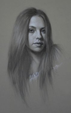 Brianna Lee (charcoal on toned paper)