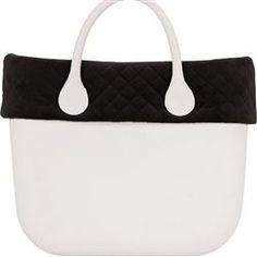 quilted velvet trim - black - an O bag mini accessory
