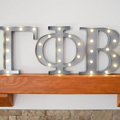 Gamma Phi Beta sorority marquee letter lights - the perfect decoration for every house, dorm or recruitment room! www.alistgreek.com