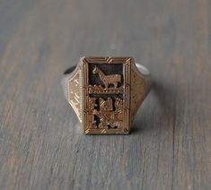 RESERVED Vintage Sterling Silver Gold Vermeil Peruvian Llama | Etsy Antique Rings, Antique Jewelry, Vintage Jewelry, Mint Tins, Muslin Bags, Mens Silver Rings, Geometric Shapes, Precious Metals, Types Of Metal