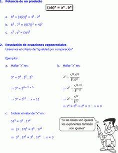10 Ideas De Potencia Y Raiz Potencias Matematicas Ejercicios De Calculo Matematicas