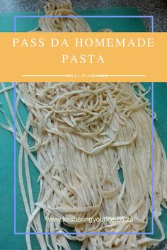My foray into past making Homemade Pasta, Pasta Recipes, Meal Planning, Healthy Living, Tasty, Meals, Ethnic Recipes, Life, Food