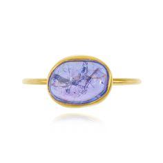 Tanzanite Wire Ring | Pippa Small Jewellery - Tanzanite Wire Ring