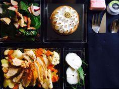 Un plateau repas sain et délicieux pour votre déjeuner