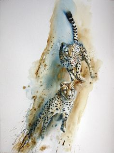 Karen Laurence-Rowe | Double Jeopardy | Watercolour on Paper 30 x 22½ inches (76.2 x 57.2 cms)