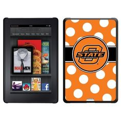 Oklahoma State Polka Dots design on a Black Thinshield Case for Amazon Kindle Fire by Coveroo. $39.95. This hard shell polycarbonate case offers a slim fit form factor, while covering the back and sides of your Kindle Fire