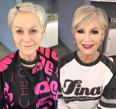 16 Before and Afters Showing the Power of Makeup - Make Up Forever Power Of Makeup, Beauty Makeup, Hair Makeup, Hair Beauty, Makeup Set, Good Makeup, Short Hair Cuts, Short Hair Styles, Short Pixie