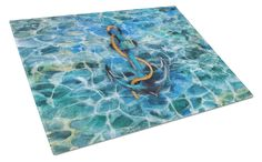 Anchor and Rope Glass Cutting Board Large BB5370LCB