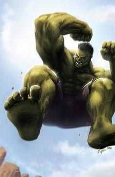 "Hulk ""Hopping Mad"" by EspenG on deviantART °°"