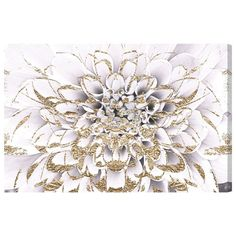 Found it at Wayfair - Floralia Blanc Graphic Art on Wrapped Canvas