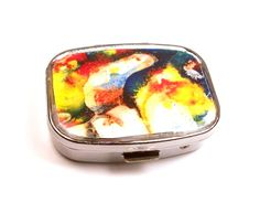 Primary Melted Crayon Metal Pill  Box by InstinctivelyIndie, $17.00