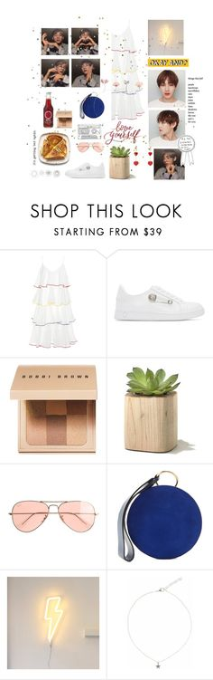 """""""It's been a long time 😇"""" by kthcsj ❤ liked on Polyvore featuring Lisa Marie Fernandez, Versus, Bobbi Brown Cosmetics, J.Crew, Diane Von Furstenberg, A Little Lovely Company, Liz Law and Prada"""