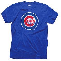 Chicago Cubs Triblend Logo T-Shirt - MLB.com Shop