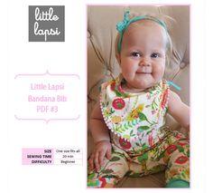 Bandana Bib PDF Pattern. baby bib pattern. by littlelapsi on Etsy