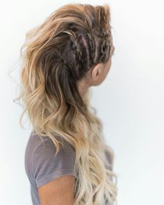 Festival Hair Hacks And Easy Step By Step Tutorial Lists That Are Easy And Beaut. - Your Hair Lagertha Hair, Vikings Lagertha, Lagertha Costume, Hair Day, Pretty Hairstyles, Braided Hairstyles For Long Hair, Boho Hairstyles For Long Hair, Night Out Hairstyles, Going Out Hairstyles