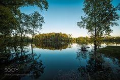 Beautiful lake landscape by olegyermolov