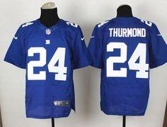 Men's NFL New York Giants #24 Thurmond Royal Blue Elite Jersey